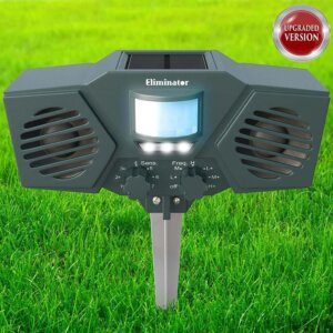 Eliminator Advanced Electric Solar Outdoor Animal and Rodent Pest Repeller