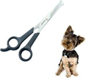 Professional Pet Grooming Scissors with Round Tip Stainless Steel Dog Eye Cutter for Dogs and Cats
