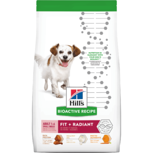 Hill's Bioactive Recipe Fit + Radiant Chicken & Barley Adult Small Breed Dry Dog Food, 11 lbs.