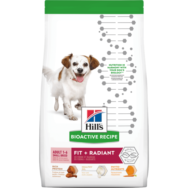 Hill's Bioactive Recipe Fit + Radiant Chicken & Barley Adult Small Breed Dry Dog Food