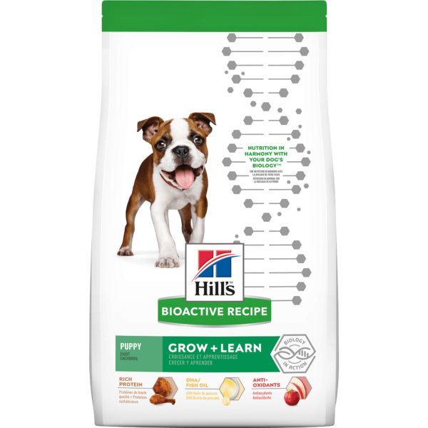 Hill's Bioactive Recipe Grow + Learn Chicken & Brown Rice Puppy Dry Food