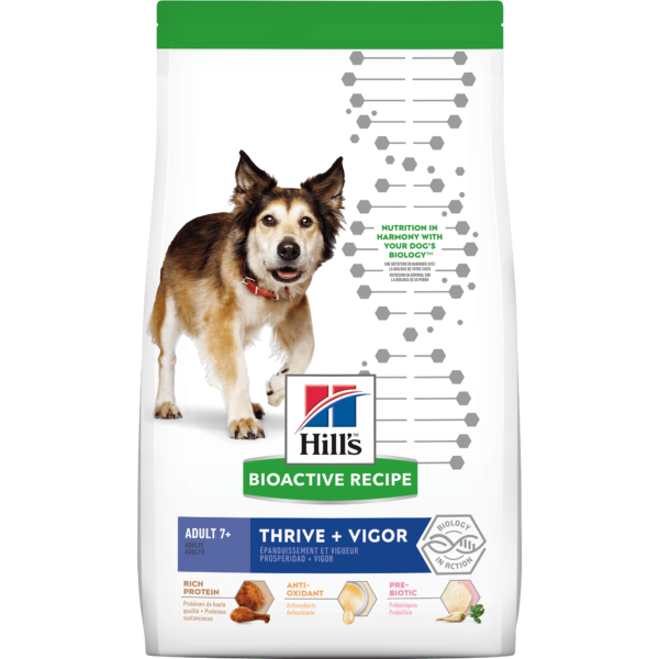 Hill's Bioactive Recipe Thrive + Vigor Chicken & Brown Rice Adult Dry Dog Food, 3.5 lbs.