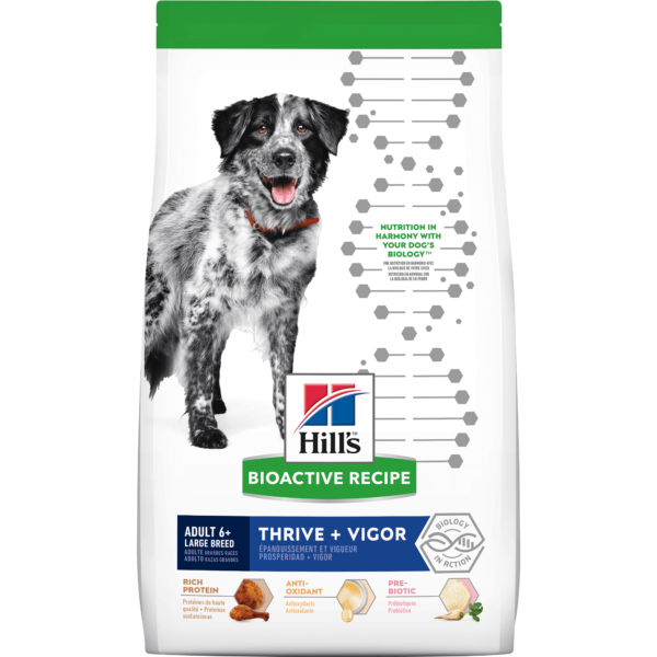 Hill's Bioactive Recipe Thrive + Vigor Chicken & Brown Rice Large Breed Adult Dry Dog Food