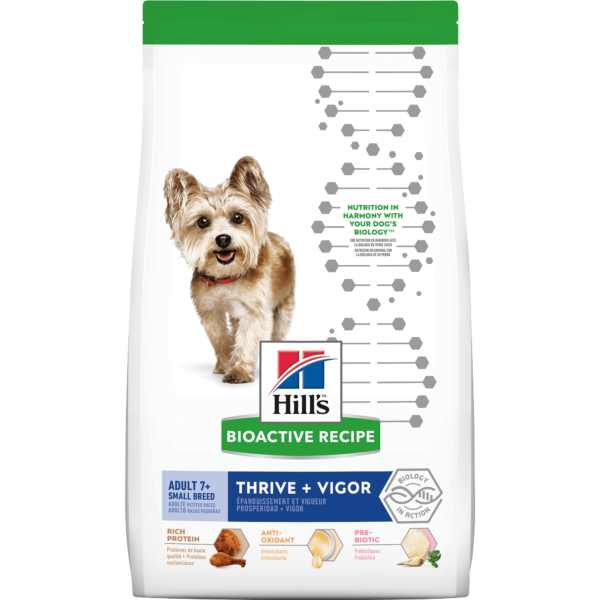 Hill's Bioactive Recipe Thrive + Vigor Chicken & Brown Rice Small Breed Adult Dry Dog Food, 3.5 lbs.