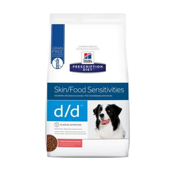 Hill's Prescription Diet d/d Skin/Food Sensitivities Potato & Salmon Formula Dry Dog Food, 8 lbs., Bag
