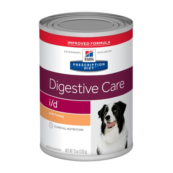 Hill's Prescription Diet i/d Digestive Care with Turkey Canned Dog Food, 13 oz., Case of 12, 12 X 13 OZ