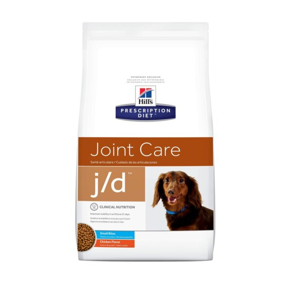 Hill's Prescription Diet j/d Joint Care Small Bites Chicken Flavor Dry Dog Food, 8.5 lbs., Bag