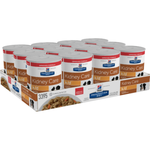 Hill's Prescription Diet k/d Kidney Care Chicken & Vegetable Stew Canned Dog Food, 12.5 oz., Case of 12, 12 X 12.5 OZ
