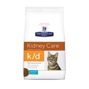 Hill's Prescription Diet k/d Kidney Care Ocean Fish Dry Cat Food, 4 lbs., Bag