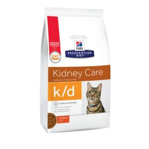 Hill's Prescription Diet k/d Kidney Care with Chicken Dry Cat Food, 8.5 lbs., Bag