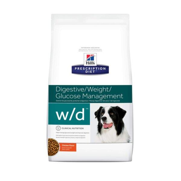 Hill's Prescription Diet w/d Digestive/Weight/Glucose Management Chicken Flavor Dry Dog Food, 8.5 lbs., Bag