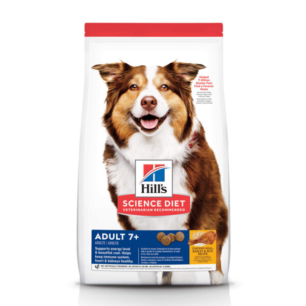 Hill's Science Diet Adult 7+ Chicken Meal, Barley & Brown Rice Recipe Dry Dog Food, 5 lbs., Bag