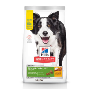 Hill's Science Diet Adult 7+ Senior Vitality Chicken & Rice Recipe Dry Dog Food, 12.5 lbs.