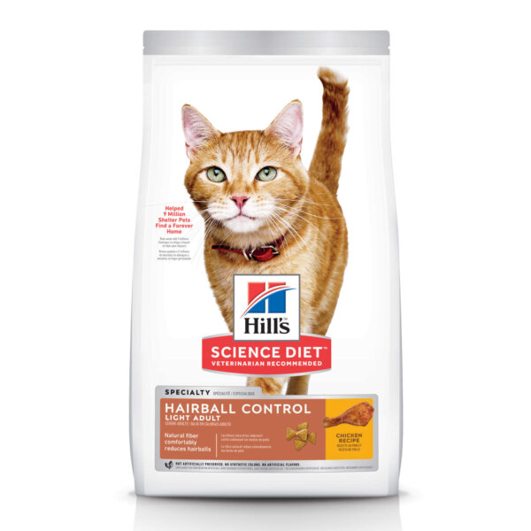 Hill's Science Diet Adult Hairball Control Light Chicken Recipe Dry Cat Food