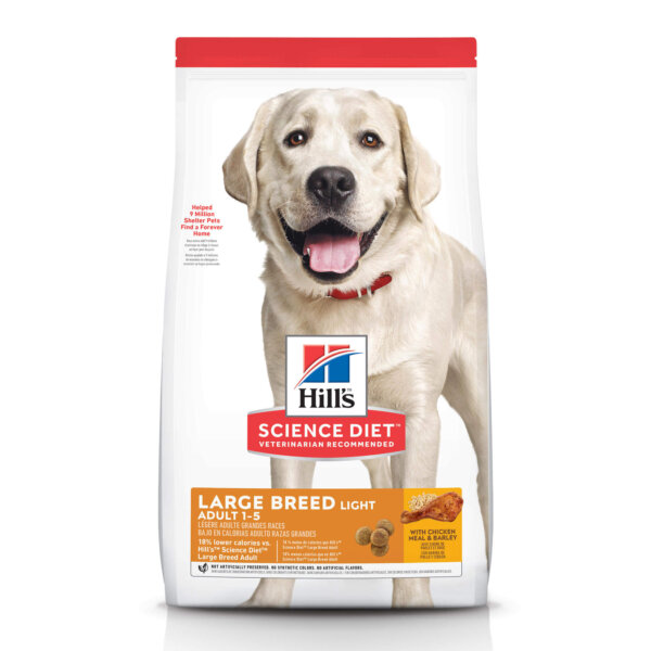 Hill's Science Diet Adult Light Large Breed with Chicken Meal & Barley Dry Dog Food, 30 lbs., Bag