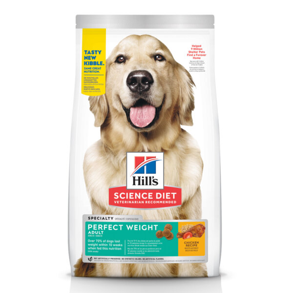 Hill's Science Diet Adult Perfect Weight Chicken Recipe Dry Dog Food, 15 lbs., Bag