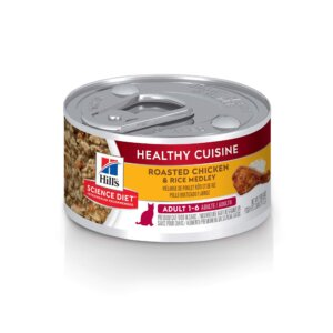 Hill's Science Diet Healthy Cuisine Adult Roasted Chicken & Rice Medley Canned Cat Food, 2.8 oz., Case of 24, 24 X 2.8 OZ