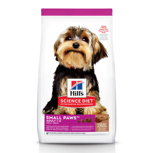 Hill's Science Diet - Small Paws, Lamb Meal and Brown Rice Recipe Dry Dog Food, 4.5 LB Bag, 4.5 LBS